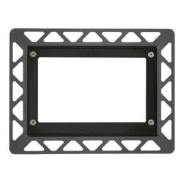 Монтажная рамка для установки стеклянных панелей TECEloop или TECEsquare на уровне стены черный